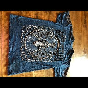Men's reversible affliction shirt